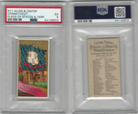 N11 Allen & Ginter, Flags of the States, 1888, Connecticut, PSA 5 EX