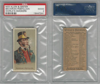 N33 Allen & Ginter, Worlds Smokers, 1888, Bavarian Postillion, PSA 2 Good