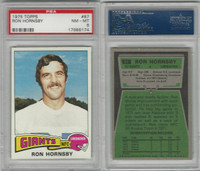 1975 Topps Football, #87 Ron Hornsby, Giants, PSA 8 NMMT