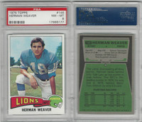 1975 Topps Football, #146 Herman Weaver, Lions, PSA 8 NMMT