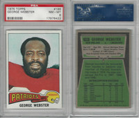 1975 Topps Football, #186 George Webster, Patriots, PSA 8 NMMT