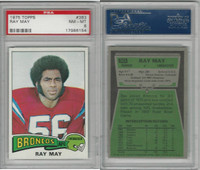 1975 Topps Football, #383 Ray May, Broncos, PSA 8 NMMT