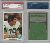 1975 Topps Football, #398 Jim Bailey, Jets, PSA 8 NMMT