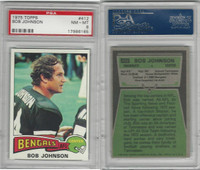 1975 Topps Football, #412 Bob Johnson, Bengals, PSA 8 NMMT