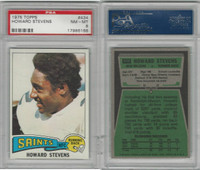 1975 Topps Football, #434 Howard Stevens, Saints, PSA 8 NMMT