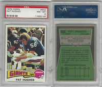 1975 Topps Football, #502 Pat Hughes, Giants, PSA 8 NMMT