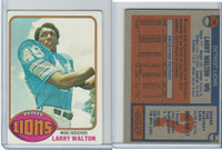 1976 Topps Football, #106 Larry Walton, Detroit Lions