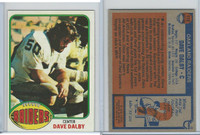 1976 Topps Football, #112 Dave Dalby (Rookie), Oakland Raiders