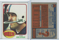 1976 Topps Football, #113 John Leypoldt, Buffalo Bills