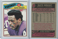 1977 Topps Football, #11 Nate Wright, Minnesota Vikings