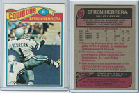 1977 Topps Football, #102 Efren Herrera, Dallas Cowboys