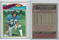 1977 Topps Football, #106 Paul Naumoff, Detroit Lions