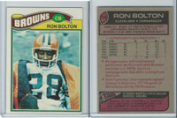 1977 Topps Football, #114 Ron Bolton, Cleveland Browns