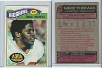 1977 Topps Football, #115 Mike Thomas, Washington Redskins
