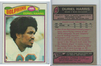 1977 Topps Football, #119 Duriel Harris (Rookie), Miami Dolphins