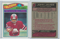 1977 Topps Football, #120 John James (All Pro), Atlanta Falcons