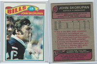 1977 Topps Football, #122 John Skorupan, Buffalo Bills