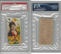 N75 Duke, Floral Beauties, 1892, Buttercups, PSA 4 VGEX