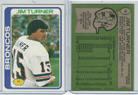 1978 Topps Football, #12 Jim Turner
