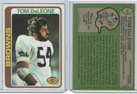 1978 Topps Football, #13 Tom Deleone