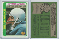 1978 Topps Football, #103 Herman Weaver
