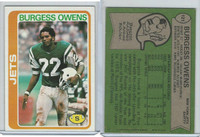 1978 Topps Football, #121 Burgess Owens