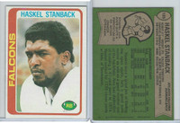 1978 Topps Football, #123 Haskel Stanback (Rookie)