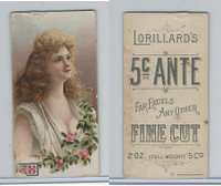N257 Lorillard, Beautiful Women, 5 Cent Ante, 1893, (2)