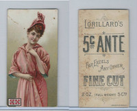 N257 Lorillard, Beautiful Women, 5 Cent Ante, 1893, (3)
