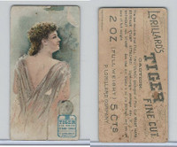N257 Lorillard, Beautiful Women, 5 Cent Ante, 1893, (4)