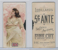 N257 Lorillard, Beautiful Women, 5 Cent Ante, 1893, (7)