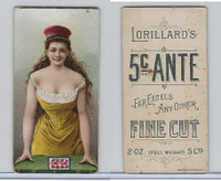 N257 Lorillard, Beautiful Women, 5 Cent Ante, 1893, (11)