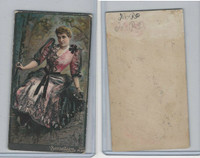 N263 Lorillard, Tiger Fine Cut, Actresses, 1888, Pink Dress With Black Lace
