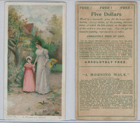 N566 Newsboy Cabinet Photos, Beautiful Pictures, 1890, #5 Morning Walk