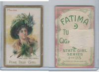 T106 ATC Cigarettes, State Girls, 1910, Maine, Pine Tree Girl