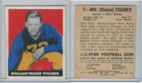 1948 Leaf Football, #7 William Moose Fischer, Notre Dame