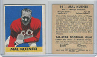 1948 Leaf Football, #14 Mal Kutner, Chicago Cardinals