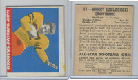 1948 Leaf Football, #41 Harry Szulborski, Purdue