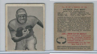 1948 Bowman Football, #38 Pat West, Los Angeles Rams