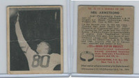 1948 Bowman Football, #52 Neil Armstrong RC, Philadelphia Eagles