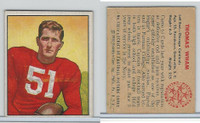 1950 Bowman Football, #130 Tom Wham, Chicago Cardinals