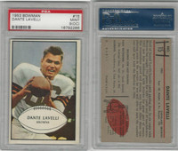1953 Bowman Football, #15 Dante Lavelli HOF, Browns, PSA 9 OC Mint