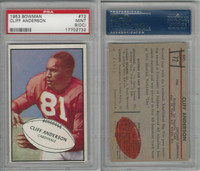 1953 Bowman Football, #72 Cliff Anderson, Cardinals, PSA 9 OC Mint