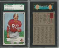 1954 Bowman Football, #24 Don Doheney, Cardinals, SGC 92 NMMT+