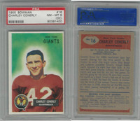 1955 Bowman Football, #16 Charlie Conerly, Giants, PSA 8 OC NMMT