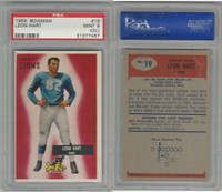 1955 Bowman Football, #19 Leon Hart, Lions, PSA 9 OC Mint