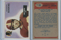1955 Bowman Football, #22 Johnny Carson, Washington Redskins