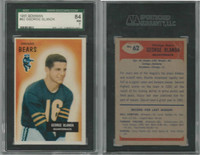 1955 Bowman Football, #62 George Blanda HOF, Bears, SGC 84 NM