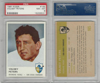 1961 Fleer Football, #165 Volney Peters, Chargers, PSA 8 NMMT