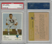 1961 Fleer Football, #174 Jim Norton, Oilers, PSA 9 Mint